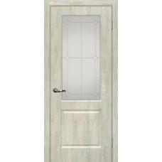 Дверь МариаМ Версаль-1 Дуб седой стекло контур серебро