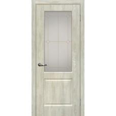 Дверь МариаМ Версаль-1 Дуб седой стекло контур золото