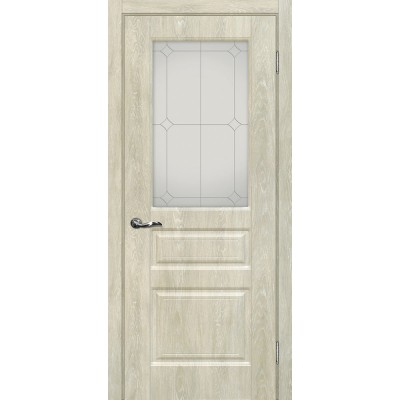 Межкомнатная Дверь МариаМ Версаль-2 Дуб седой стекло контур серебро