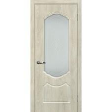 Дверь МариаМ Сиена-2 Дуб седой стекло контур серебро