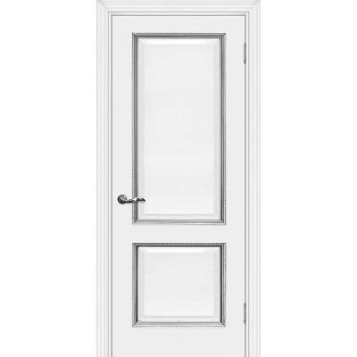Межкомнатная Дверь МариаМ Мурано-1 Белый патина серебро