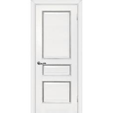 Дверь МариаМ Мурано-2 Белый патина серебро