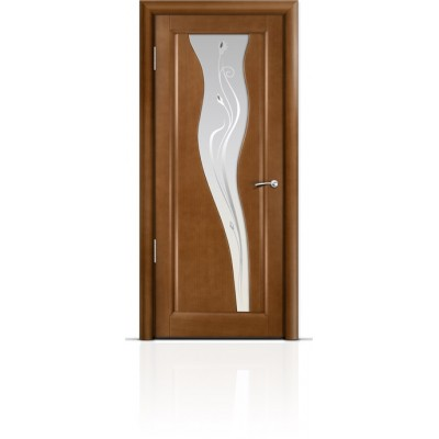 Межкомнатная Дверь Мильяна Лантана Анегри стекло белое Лантана