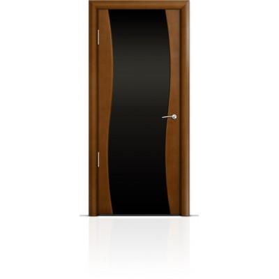 Межкомнатная Дверь Мильяна Омега Анегри триплекс черный