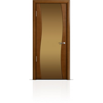 Межкомнатная Дверь Мильяна Омега Анегри триплекс бронзовый