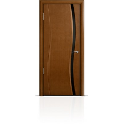 Межкомнатная Дверь Мильяна Омега Анегри триплекс узкий черный