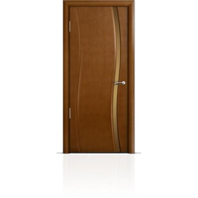 Межкомнатная Дверь Мильяна Омега Анегри триплекс узкий бронзовый
