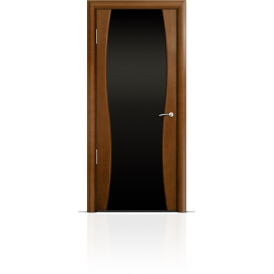 Межкомнатная Дверь Мильяна Омега-1 Анегри триплекс черный