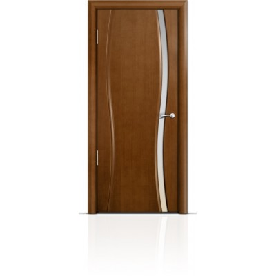 Межкомнатная Дверь Мильяна Омега-1 Анегри триплекс узкий белый