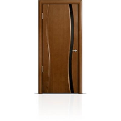 Межкомнатная Дверь Мильяна Омега-1 Анегри триплекс узкий черный