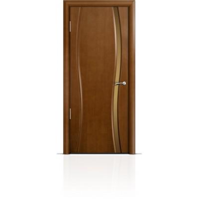 Межкомнатная Дверь Мильяна Омега-1 Анегри триплекс узкий бронзовый