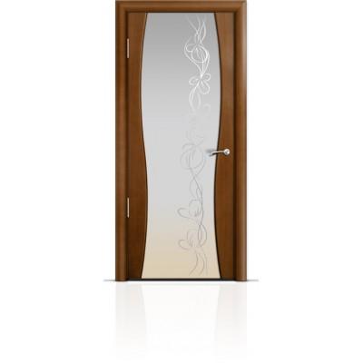 Межкомнатная Дверь Мильяна Омега-1 Анегри триплекс белый Фантазия