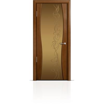 Межкомнатная Дверь Мильяна Омега-1 Анегри триплекс бронзовый Фантазия