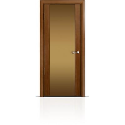Межкомнатная Дверь Мильяна Омега-2 Анегри триплекс бронзовый