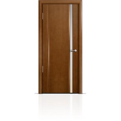 Межкомнатная Дверь Мильяна Омега-2 Анегри триплекс узкий белый