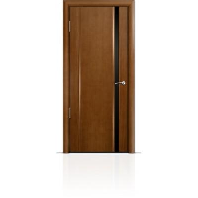 Межкомнатная Дверь Мильяна Омега-2 Анегри триплекс узкий черный