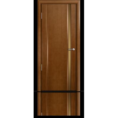 Межкомнатная Дверь Мильяна Омега-2 Анегри триплекс узкий бронзовый