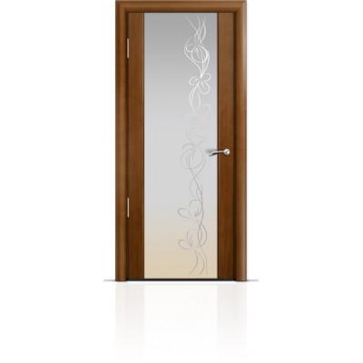 Межкомнатная Дверь Мильяна Омега-2 Анегри триплекс белый Фантазия