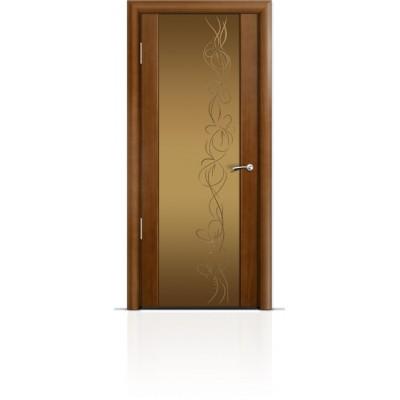 Межкомнатная Дверь Мильяна Омега-2 Анегри триплекс бронзовый Фантазия