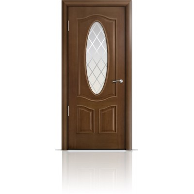Межкомнатная Дверь Мильяна Барселона Палисандр стекло Готика