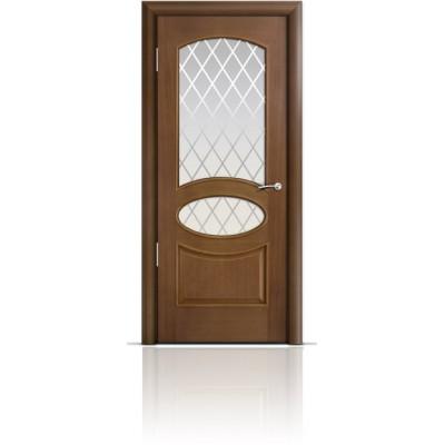 Межкомнатная Дверь Мильяна Рим Палисандр стекло Готика