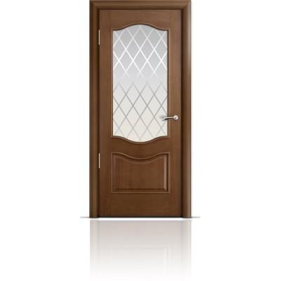 Межкомнатная Дверь Мильяна Марсель Палисандр стекло Готика