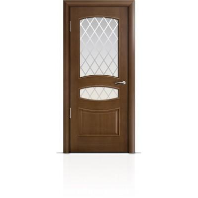 Межкомнатная Дверь Мильяна Венеция Палисандр стекло Готика