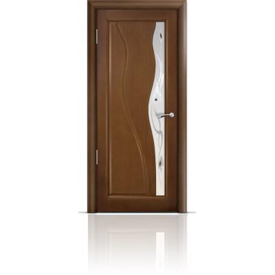 Межкомнатная Дверь Мильяна Ирен Палисандр стекло белое Ирен