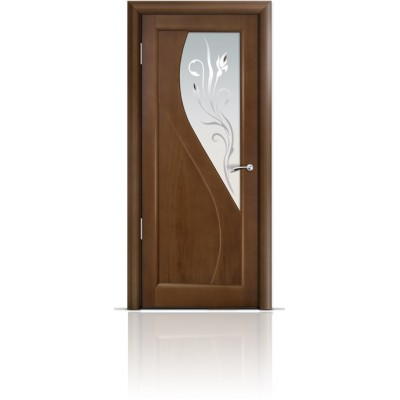 Межкомнатная Дверь Мильяна Яна Палисандр стекло белое Яна