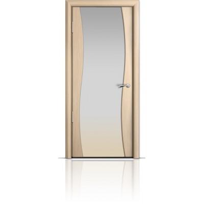 Межкомнатная Дверь Мильяна Омега Беленый дуб триплекс белый