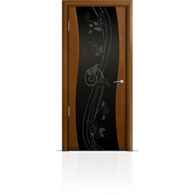 Межкомнатная Дверь Мильяна Омега Анегри триплекс черный Нежность