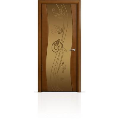 Межкомнатная Дверь Мильяна Омега Анегри триплекс бронзовый Нежность