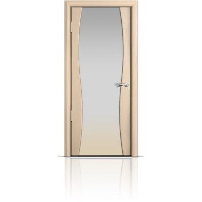 Межкомнатная Дверь Мильяна Омега-1 Беленый дуб триплекс белый