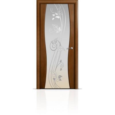 Межкомнатная Дверь Мильяна Омега-1 Анегри триплекс белый Нежность