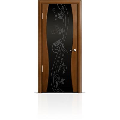 Межкомнатная Дверь Мильяна Омега-1 Анегри триплекс черный Нежность