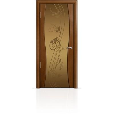 Межкомнатная Дверь Мильяна Омега-1 Анегри триплекс бронзовый Нежность
