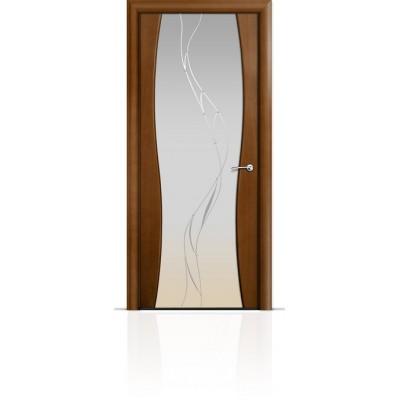 Межкомнатная Дверь Мильяна Омега-1 Анегри триплекс белый Иллюзия