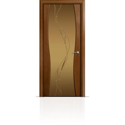 Межкомнатная Дверь Мильяна Омега-1 Анегри триплекс бронзовый Иллюзия