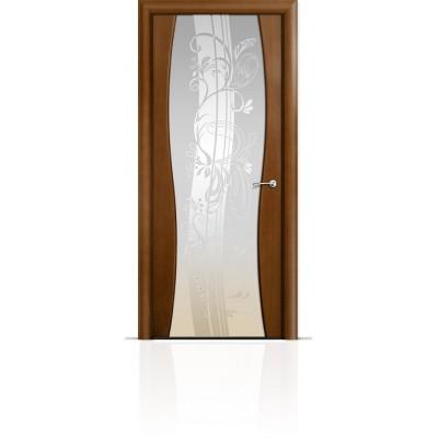 Межкомнатная Дверь Мильяна Омега-1 Анегри триплекс белый Мотив