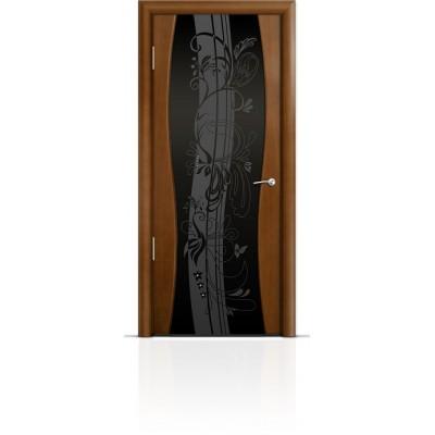 Межкомнатная Дверь Мильяна Омега-1 Анегри триплекс черный Мотив