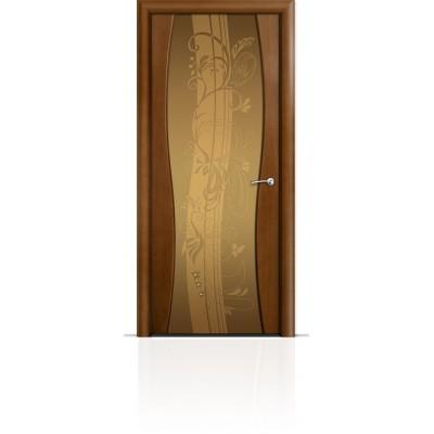 Межкомнатная Дверь Мильяна Омега-1 Анегри триплекс бронзовый Мотив