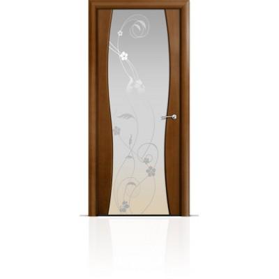 Межкомнатная Дверь Мильяна Омега-1 Анегри триплекс белый Фиалка