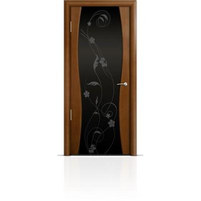 Межкомнатная Дверь Мильяна Омега-1 Анегри триплекс черный Фиалка