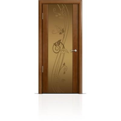 Межкомнатная Дверь Мильяна Омега-2 Анегри триплекс бронзовый Нежность