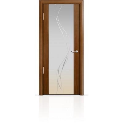 Межкомнатная Дверь Мильяна Омега-2 Анегри триплекс белый Иллюзия