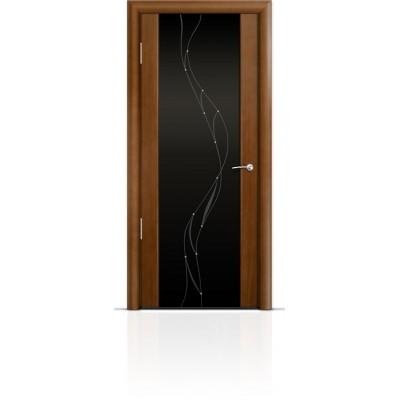 Межкомнатная Дверь Мильяна Омега-2 Анегри триплекс черный Иллюзия