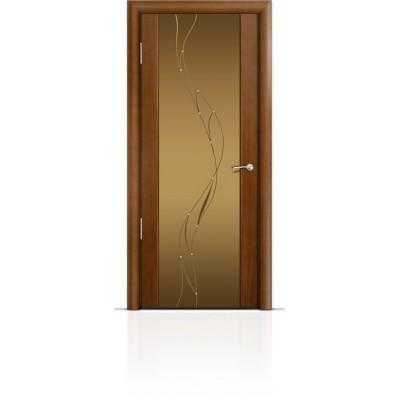 Межкомнатная Дверь Мильяна Омега-2 Анегри триплекс бронзовый Иллюзия