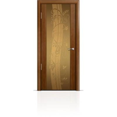 Межкомнатная Дверь Мильяна Омега-2 Анегри триплекс бронзовый Мотив