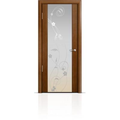 Межкомнатная Дверь Мильяна Омега-2 Анегри триплекс белый Фиалка