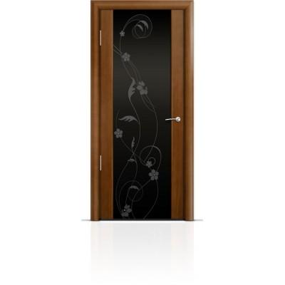 Межкомнатная Дверь Мильяна Омега-2 Анегри триплекс черный Фиалка